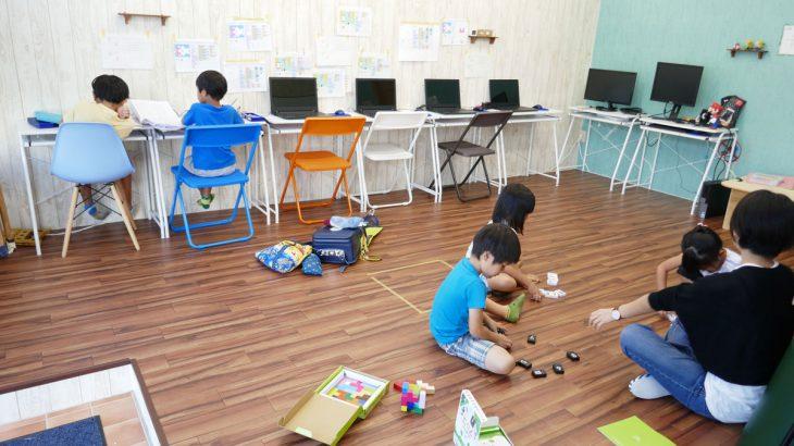 【沖縄】幼稚園生クラスでのプログラミング学習の様子